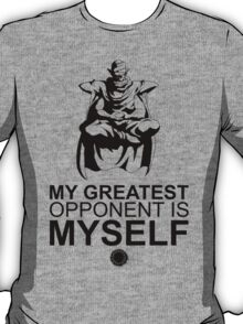 Picollo - My Greatest Opponent Is Myself - Black T-Shirt