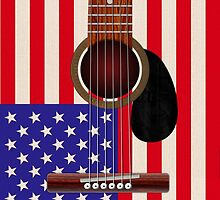 American Flag Guitar by Packrat