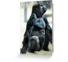 Gorilla and the Butterfly Greeting Card