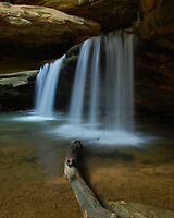 Old Mans Cave Falls by Jason Vickers