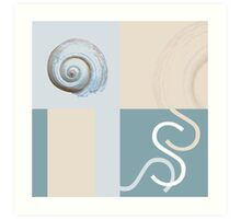S is for Shell or Snail. Your choice! Art Print