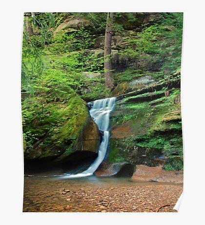 Moss Rock Falls Poster