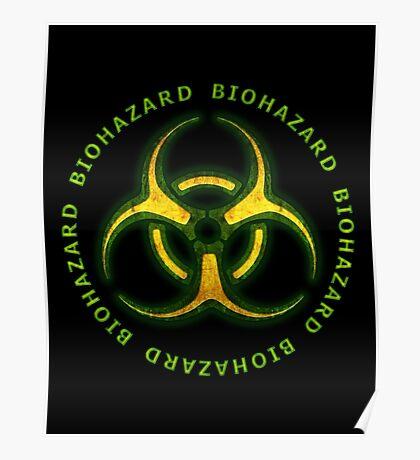 Green Biohazard Sign Poster