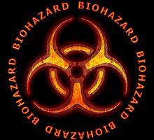 Red Biohazard Sign by Packrat