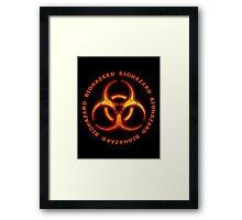 Red Biohazard Sign Framed Print