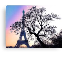 sunset at the Tour Eiffel Canvas Print