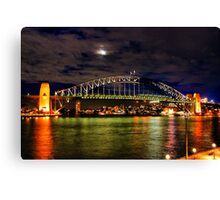 Harbour Bridge at moonlight Canvas Print
