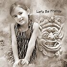 """Smiles """"Let's Be Friends"""" ~ Greeting Card by Susan Werby"""