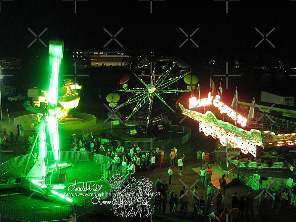 fair at night by LoreLeft27