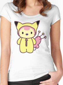 Hello Skitty - Pikachu Women's Fitted Scoop T-Shirt