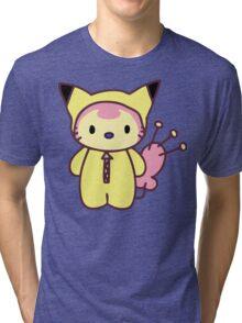 Hello Skitty - Pikachu Tri-blend T-Shirt