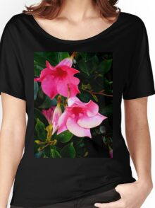 PINK DELIGHT - BRIGHT PINK BLOSSOMS Women's Relaxed Fit T-Shirt