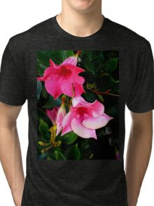 PINK DELIGHT - BRIGHT PINK BLOSSOMS Tri-blend T-Shirt