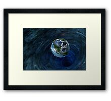 Earth Is In Trouble Framed Print