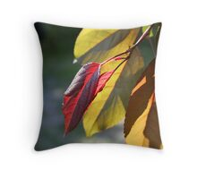 Backlit leaves Throw Pillow