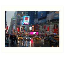 Rainy Times Square Art Print