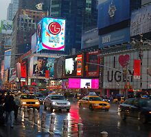 Rainy Times Square by cpad04