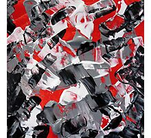 Red and Gray Abstract Design  Photographic Print