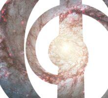 Whirlpool Galaxy   Phi Spiral  Sticker