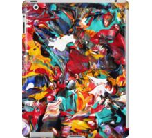 Colorful Abstract Design, Rainbow Colored Art iPad Case/Skin