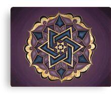Star Light Mandala Canvas Print