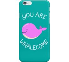 Whale, thank you! - Pink Version iPhone Case/Skin