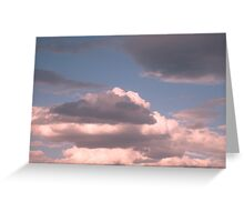 Pink skyscape Greeting Card