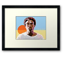 Gambino is a Mastermind Framed Print