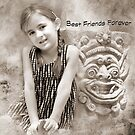 """Smiles """"Best Friends Forever"""" ~ Greeting Card by Susan Werby"""