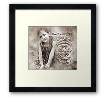 "Smiles ""Best Friends Forever"" ~ Greeting Card Framed Print"