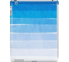 Blue Ombre Brushstroke - Summer, Beach, Ocean, Water, LA Cute trendy, painterly art iPad Case/Skin
