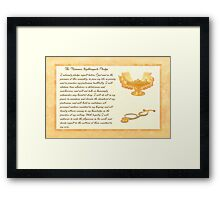 The Florence Nightingale Pledge Framed Print