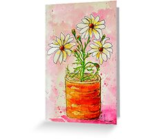 Daisies in a Tin Greeting Card