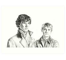 Sherlock Holmes and John Watson Art Print