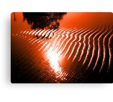 Waters of relaxation red sunset  Hdr  Canvas Print