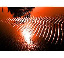 Waters of relaxation red sunset  Hdr  Photographic Print