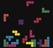 tetris on black Kids Clothes