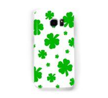 Green Shamrocks for the Irish Samsung Galaxy Case/Skin