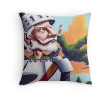 Don Quixote and the Dragon Throw Pillow