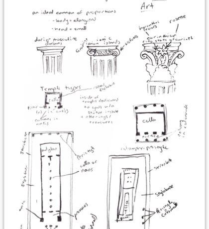 Ancient Greek Diagram Sticker