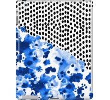 Monroe - India ink, indigo, dots, spots, print pattern, surface design iPad Case/Skin