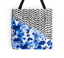 Monroe - India ink, indigo, dots, spots, print pattern, surface design Tote Bag