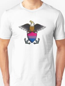 American Traditional Bisexual Pride Eagle  T-Shirt