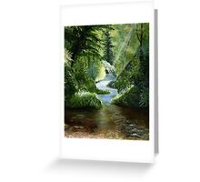 Woodland Stream Oil Painting Greeting Card