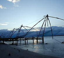 Chinese fishing nets, India by AravindTeki