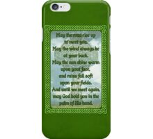 Green Irish Blessing iPhone Case/Skin
