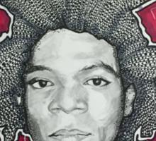 Jean Michel Basquiat.   Sticker