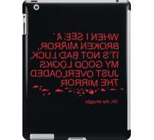 Mirror looks iPad Case/Skin