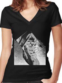 Replica (Black) Women's Fitted V-Neck T-Shirt