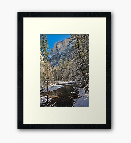 Half Dome in Snow  Framed Print